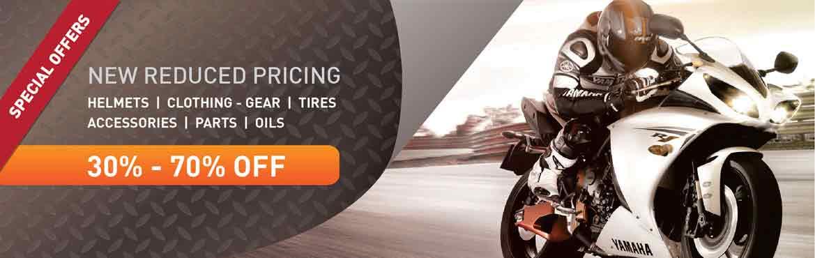 Motorcycle gear offers