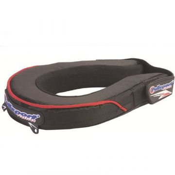 POLISPORT NECK PROTECTOR - YOUTH - BLACK/RED