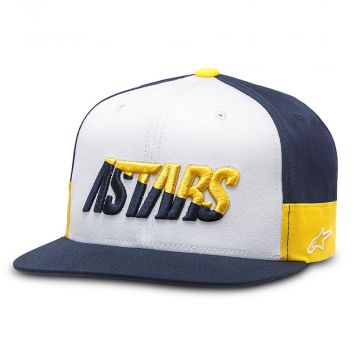 ALPINESTARS FASTER HAT - WHITE/NAVY/GOLD