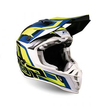 Progrip 3180 AP71 - YELLOW FLUO/DARK BLUE - SPECIAL ABS - MOTOCROSS/ENDURO HELMET