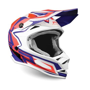 Progrip 3009 Kids Helmet - ORANGE / BLUE - SPECIAL ABS - MOTOCROSS/ENDURO HELMET