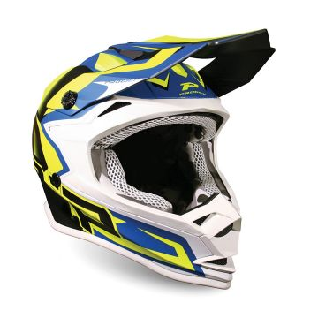 Progrip 3009 Kids Helmet - YELLOW FLUO / DARK BLUE - SPECIAL ABS - MOTOCROSS/ENDURO HELMET
