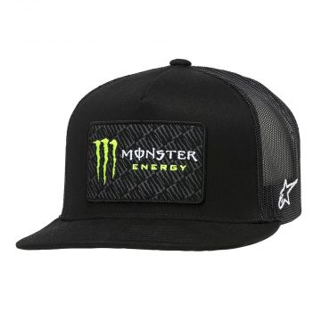 MONSTER CHAMP TRUCKER HAT -  BLACK