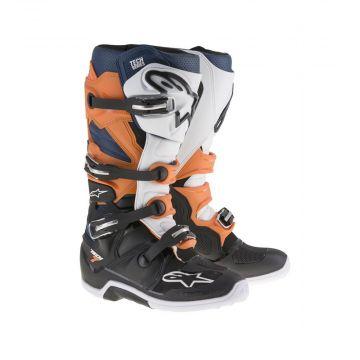 Alpinestars Tech 7 Boots - Black / Orange / White / Blue