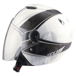ZEUS ZS-202FB Helmet - White/Black/Grey