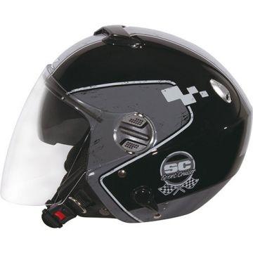 Zeus ZS-202FB Helmet - Black/Grey