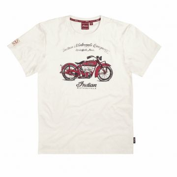 Indian Motorcycle - 1920 Scout Bike Tee - White