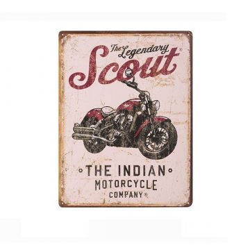 Indian Scout Motorcycle Sign