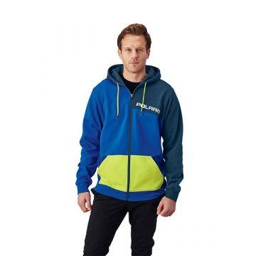 Polaris Men's Full Zip Hoodie - Blue/Lime