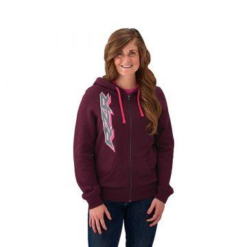 Polaris Women's Full Zip Hoodie - Berry