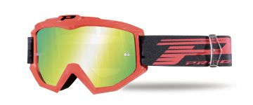 Progrip 3201/FL Atzaki Motocross Goggles Red with Multilayered Lens