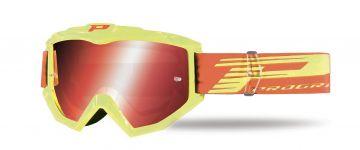 Progrip 3201/FL Atzaki Motocross Goggles Yellow with Multilayered Lens