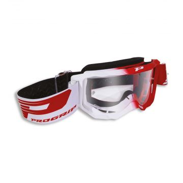 Progrip PG3300 Goggles - White/Red