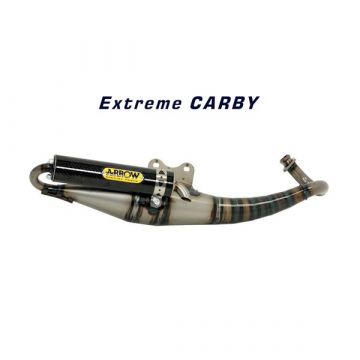 Arrow Exhaust system for GILERA TYPHOON PIAGGIO NRG MUFFLER ARROW EXTREME SILENCER CARBON