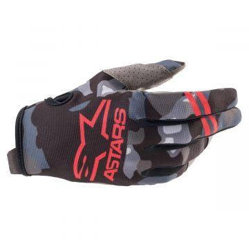 Alpinestars Radar Gloves Youth - Grey Camo / Red