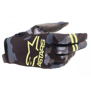 Alpinestars Radar Gloves Youth - Grey Camo / Yellow