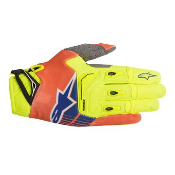ALPINESTARS TECHSTAR GLOVES - RED / YELLOW