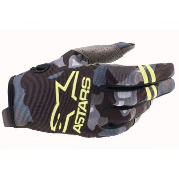 Alpinestars Radar Gloves - Grey Camo / Yellow