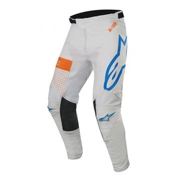 ALPINESTARS RACER TECH ATOMIC - COOL GRAY MID BLUE ORANGE FLUO-32 (Pants)
