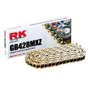 "RK MOTOCROSS RACING CHAIN GOLD ""428"" X 126 LINK"