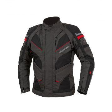 Prexport 4 Seasons - Road City Jacket - Waterproof - Black / Gun / Red