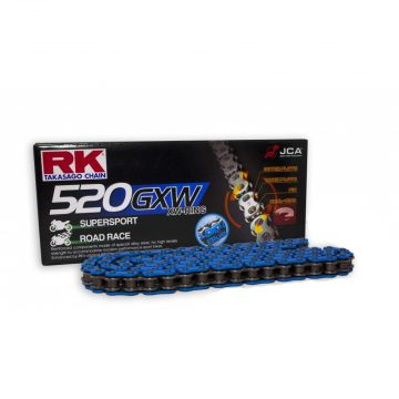 "RK High Performance XW-Ring Chain Blue ""520"" x 124 Link"