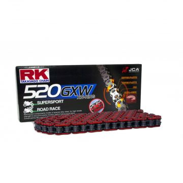 """RK High Performance XW-Ring Chain Red """"520"""" x 124 Link"""