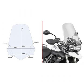 Givi 6401DT Specific Screen for Triumph Tiger 800 / 800 XC / 800 XR (11 > 17)