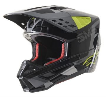 Alpinestars SM5 ROVER HELMET -Grey/Yellow