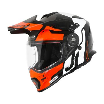 Just1 J34 Pro Tour - Orange/Black Adventure Helmet