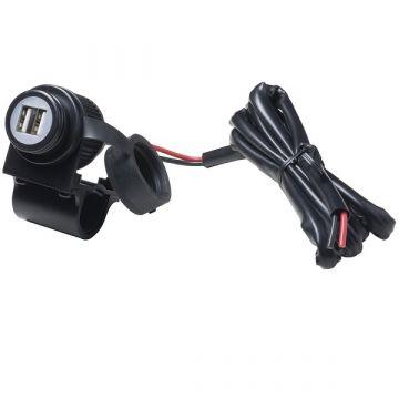 INTERPHONE HANDLEBAR-MOUNTED DOUBLE USB PORT