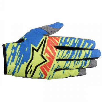 Alpinestars Racer Braap Gloves Blue-Yellow