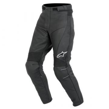 Alpinestars Bat Leather pants Logo - Black
