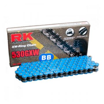 "RK High Performance XW-Ring Chain Blue ""530"" x 124 Link"