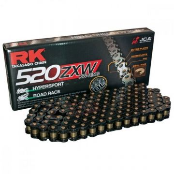 "RK High Performance XW-Ring Chain Black ""520"" x 124 Link"