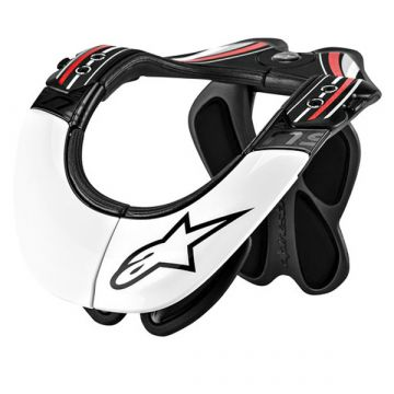 ALPINESTARS BNS PRO NECK SUPORT - BLACK/WHITE