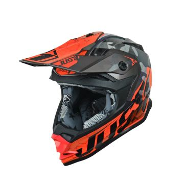 JUST1 J32 PRO SWAT CAMO FLUO ORANGE GLOSS KIDS HELMET