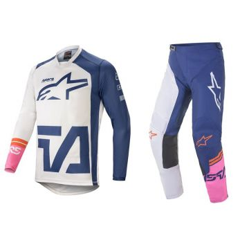 Alpinestars Racer Compass Set - Off White / Navy / Pink - 32
