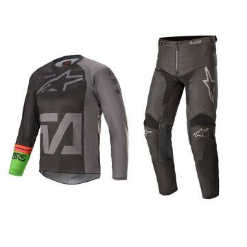 Alpinestars Racer Compass Youth - Gear Set - Black / Dark Grey / Green - 26
