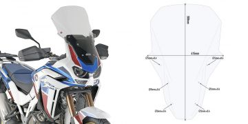 GIVI D1178ST Specific Screen for Honda Africa Twin Adventure Sports 2019