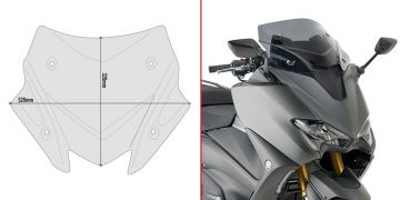 Givi D2147B - Specific smoked low sports screen for Yamaha T-Max 560 (20 > 21)