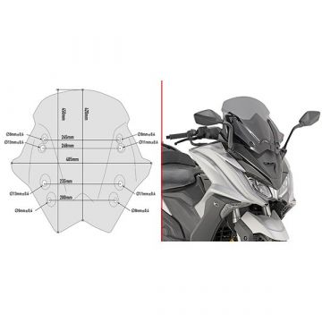 Givi D6110S Specific Screen for Kymco AK 550 (17 > 18)