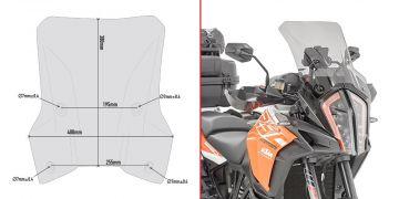 Givi D7706ST Specfic Screen for KTM 1290 Super Adventure S (17 > 18)