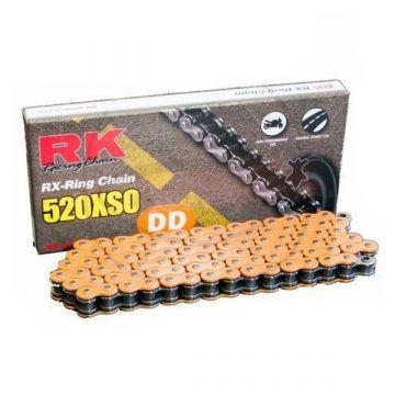 "RK Heavy Duty X-Ring Chain Orange ""520"" x 120 Link"