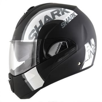Shark Evoline Series 3 Drop Dual Helmet - Black