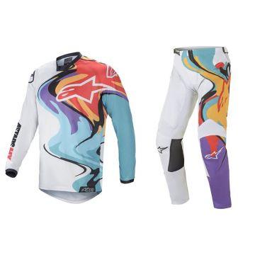 Alpinestars Racer Flagship - Set  - White/Multicolor - 32