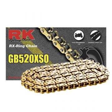 "RK Heavy Duty X-Ring Chain Gold ""520"" x 106 Link"