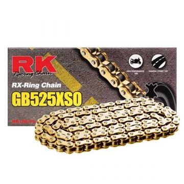 "RK Heavy Duty X-Ring Chain Gold ""525"" x 118 Link"