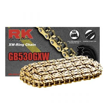 "RK High Performance XW-Ring Chain Gold ""530"" x 124 Link"