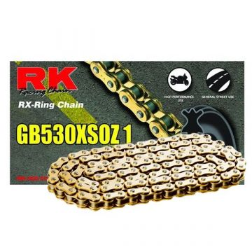 "RK Heavy Duty X-Ring Chain Gold ""530"" x 124 Link"